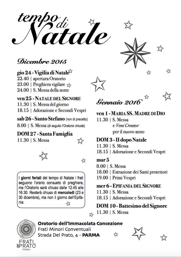 lcd - Orari Natale 2015